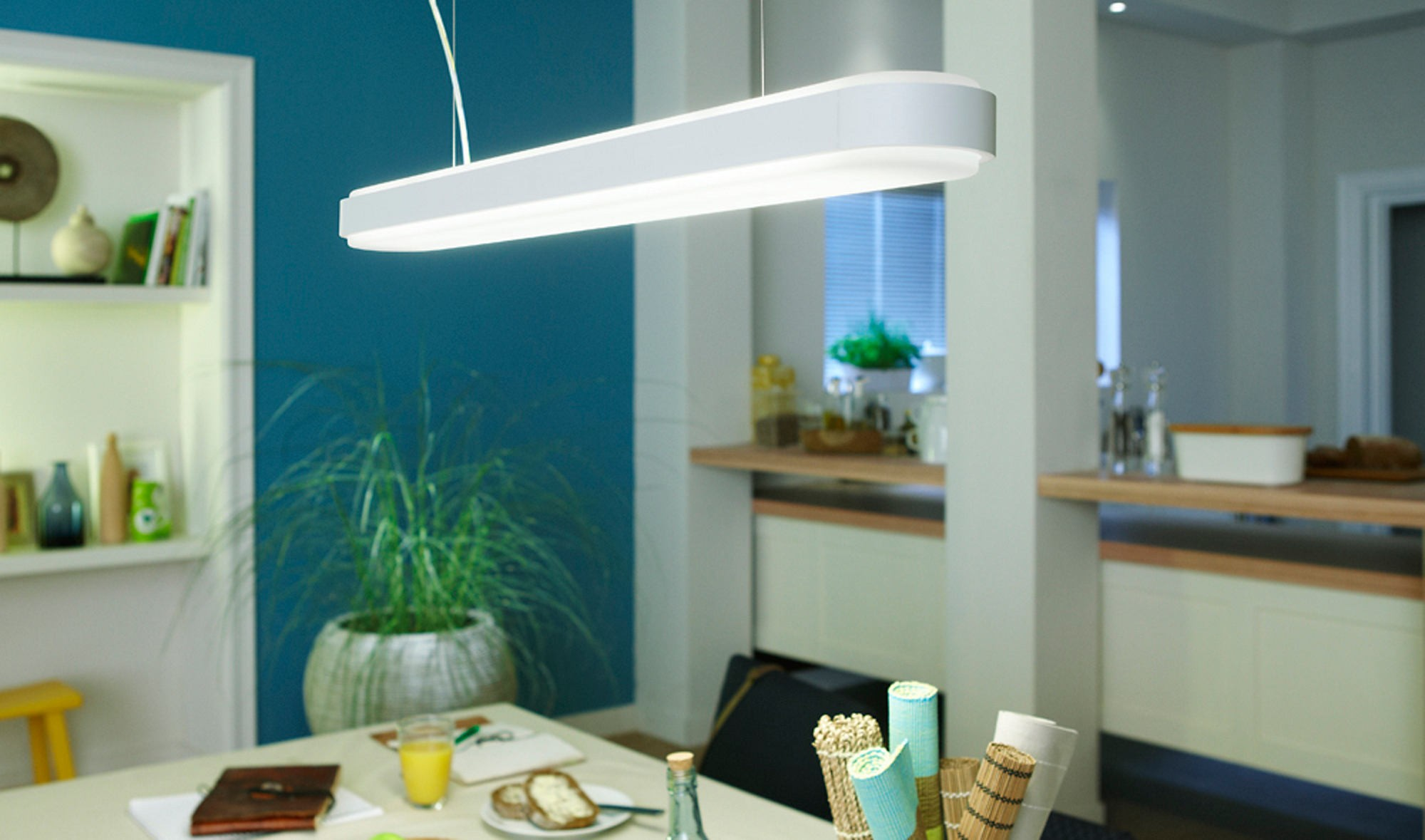 Led verlichting keuken philips for Ha ngelampe esstisch modern