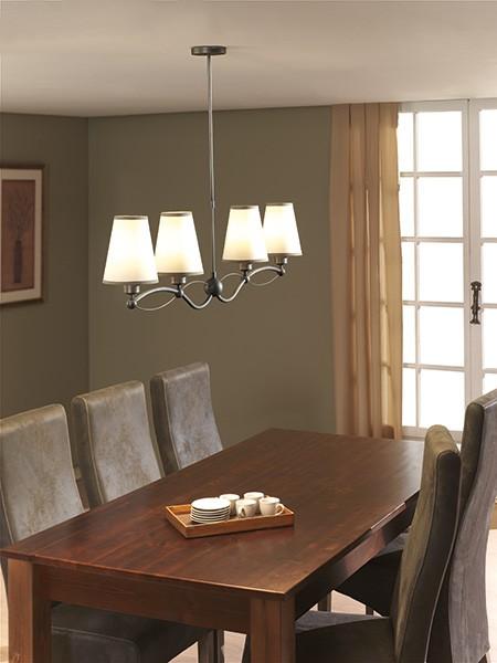 h ngeleuchte pendelleuchte stoff rustikal braun leuchte lampe ebay. Black Bedroom Furniture Sets. Home Design Ideas