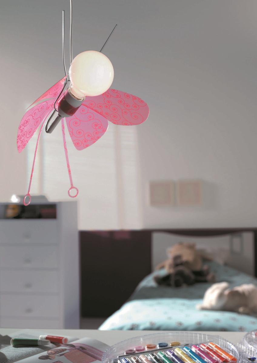 Dormitorio infantil l mpara colgante mariposa l mpara para - Lampara habitacion infantil ...