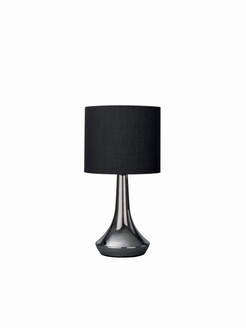 tischleuchte ray tischlampe nachttischleuchte touch dimmer schwarz stoff leuchte ebay. Black Bedroom Furniture Sets. Home Design Ideas