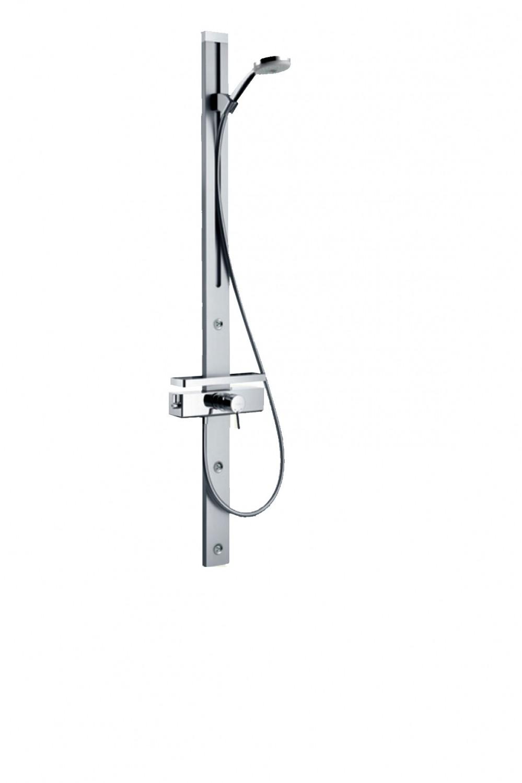hansgrohe duschpaneel croma 100 manuell chrom ebay. Black Bedroom Furniture Sets. Home Design Ideas