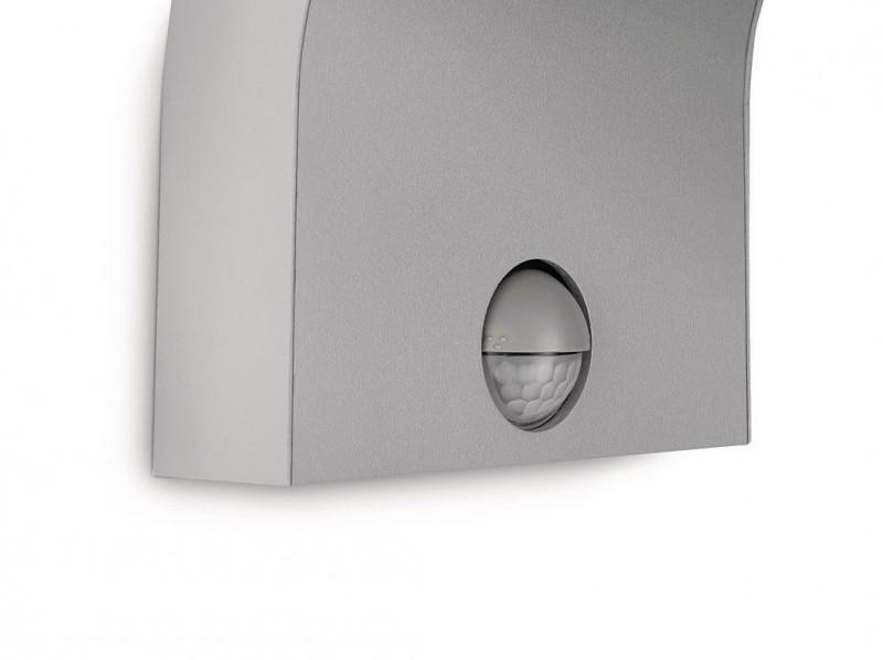 philips ledino led wandaussenleuchte bewegungsmelder powerled aussenleuchte grau ebay. Black Bedroom Furniture Sets. Home Design Ideas