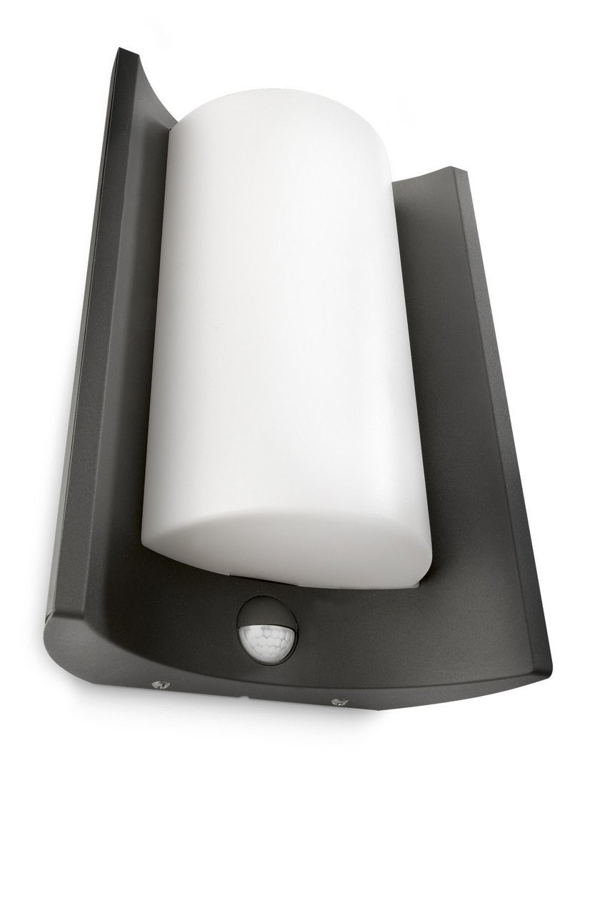 neu philips energiespar wandleuchte meander bewegungsmelder 16405 93 16 ebay. Black Bedroom Furniture Sets. Home Design Ideas